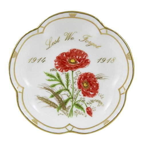Royal Crown Derby Commemorative WW1 5 Petal Tray