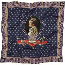 Halcyon Days 65th Anniversary of the Queen's Coronation Silk Scarf