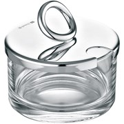 Christofle Vertigo Silverplated Lidded Cheese/Jam Dish