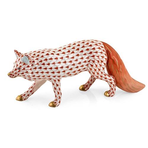 Herend Observant Fox, Rust