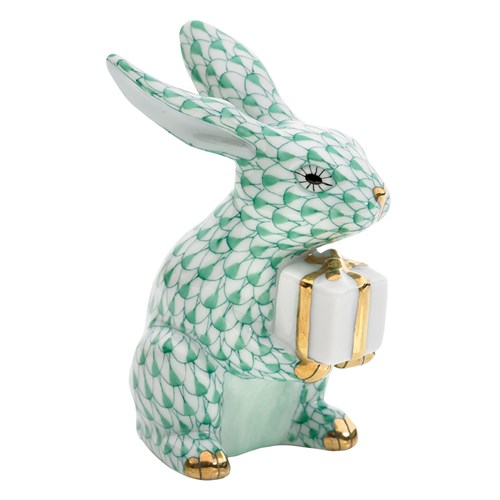 Herend Celebration Bunny, Green