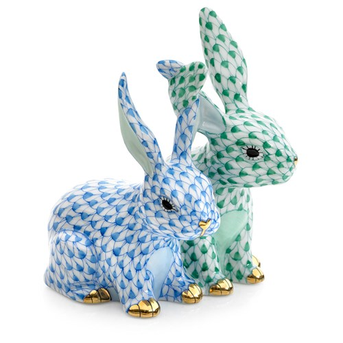Twisted Bunnies, Blue & Green