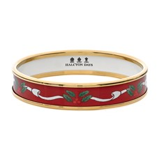 Halcyon Days Ribbon Handpainted Bangles