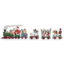 Pewter Christmas Express Trains