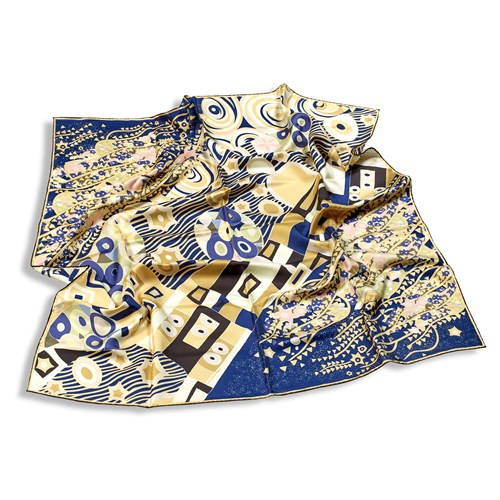 Freywille Gustav Klimt The Ultimate Kiss Large Silk Scarf