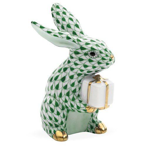 Herend Celebration Bunny, Forest Green