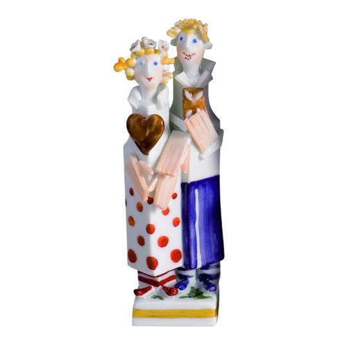 Meissen Hansel & Gretel Fairytale Figure, Colored with Gold