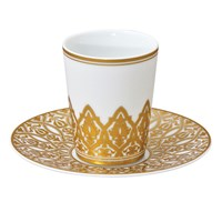 Bernardaud Venise Handle-less Espresso Cup & Saucer, Set of 2
