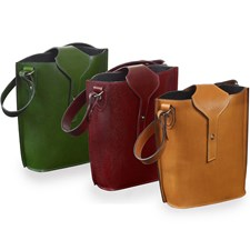 Leather Wine Totes