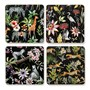 Jungle Wildlife Square Placemats, Set of 4