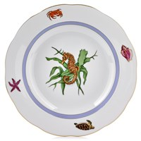 Herend Sea Life Rim Soup Bowl, #4 Seahorse