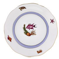 Herend Sea Life Bread & Butter Plate, #1 Pink Fish