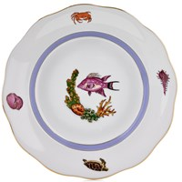 Herend Sea Life Dessert Plate, #1 Pink Fish