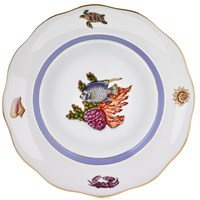 Herend Sea Life Dessert Plate, #2 Blue Fish
