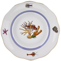 Herend Sea Life Dessert Plate, #6 Red Fish