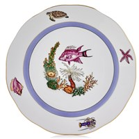 Herend Sea Life Dinner Plate, #1 Pink Fish