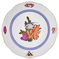 Herend Sea Life Dinner Plate, #2 Blue Fish