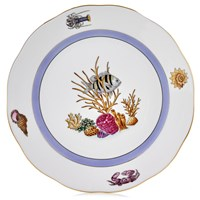Herend Sea Life Dinner Plate, #5 Black & Yellow Fish