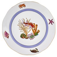 Herend Sea Life Dinner Plate, #6 Red Fish