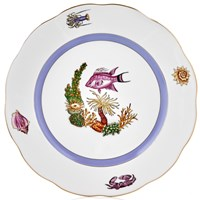 Herend Sea Life Large Dinner Plate, #1 Pink Fish
