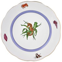 Herend Sea Life Large Dinner Plate, #4 Seahorse