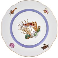 Herend Sea Life Large Dinner Plate, #6 Red Fish