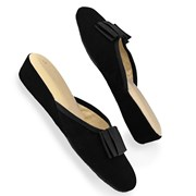 Women's Black Galla Velvet Slippers