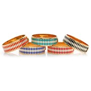 Halcyon Days Wide Parterre Hinged Bangles, 19mm