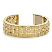 18k Yellow Gold Quilted Weave Cuff Bracelet