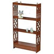 Mahogany Fretted Hanging Bookcase