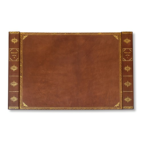 Leather Books Desk Pad, Brown