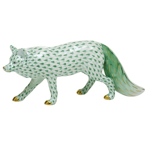 Herend Observant Fox, Green