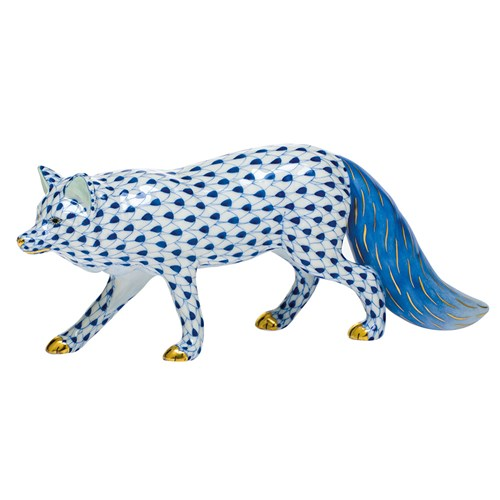 Herend Observant Fox, Sapphire