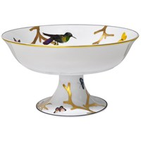 Bernardaud Aux Oiseaux Footed Coupe Plate