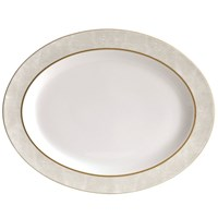 Bernardaud Sauvage Or Oval Platter, Medium