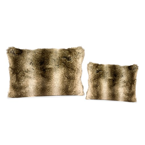 Faux Fur Wolf Australian Geelong Wool Pillows