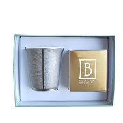 Bernardaud Sauvage Tumbler with Scented Candle