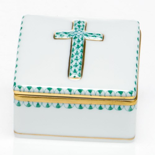 Herend Prayer Box, Green