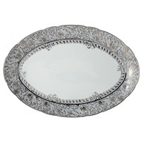 Bernardaud Eden Platine Oval Platter, Medium