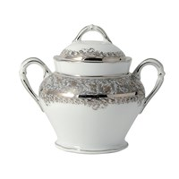 Bernardaud Eden Platine Covered Sugar Bowl
