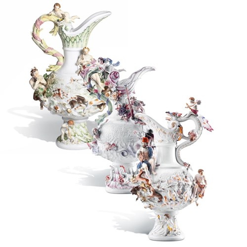 Meissen Four Elements Vases
