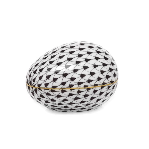 Fishnet Egg, Black
