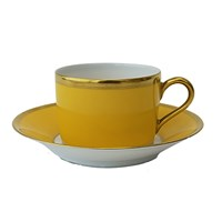 Haviland & Parlon Arc en Ciel, Yellow Tea Cup & Saucer