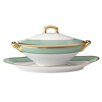 Haviland & Parlon Arc en Ciel, Mint Sauce Boat with Lid