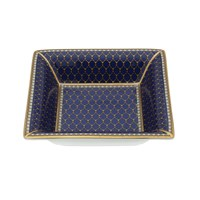 Halcyon Days Antler Trellis Midnight Square Tray