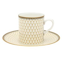 Halcyon Days Antler Trellis Ivory Coffee Cup & Saucer