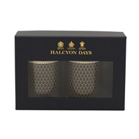 Halcyon Days Antler Trellis Black Mug, Set of 2