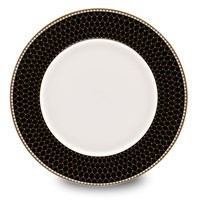 Halcyon Days Antler Trellis Black Dinner Plate