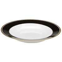 Halcyon Days Antler Trellis Black Rim Soup Bowl