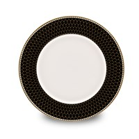 Halcyon Days Antler Trellis Black Bread & Butter Plate
